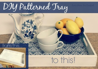How to DIY Blue and White Tray via ComeHomeForComfort.com
