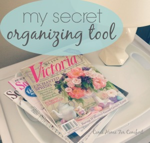 My Secret Organizing Tool  Reduce magazine clutter with Pinterest  via ComeHomeForComfort.com