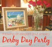 Throwing An Elegant But Simple Derby Day Party via ComeHomeForComfort.com