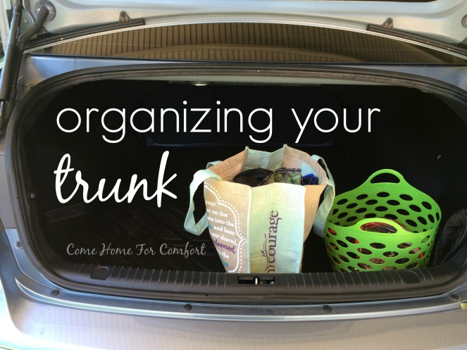 How To Organize Your Trunk via ComeHomeForComfort.com