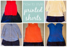 How to style printed shorts via ComeHomeForComfort