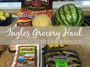 Ingles Grocery Haul  Summer Pasta Salad Recipe  via ComeHomeForComfort.com