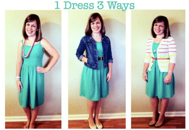 One Dress Three Ways via ComeHomeForComfort.com