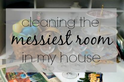 Cleaning The Messiest Room via ComeHomeForComfort.com