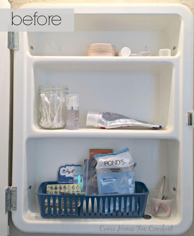 Bathroom Cabinet Re-Organization via ComeHomeForComfort.com 2