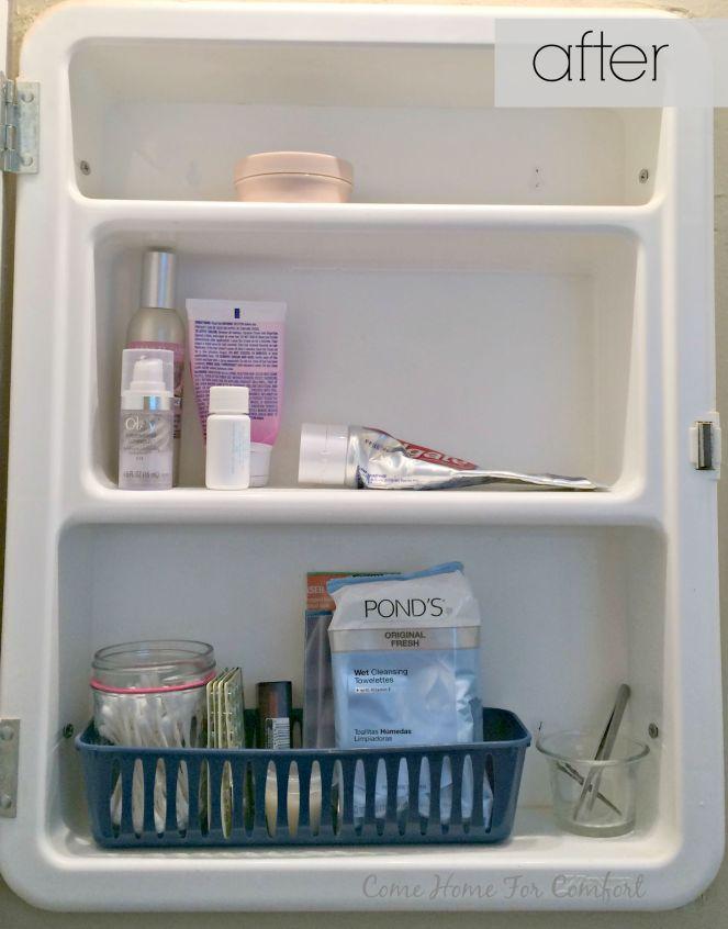 Bathroom Cabinet Re-Organization via ComeHomeForComfort.com 4