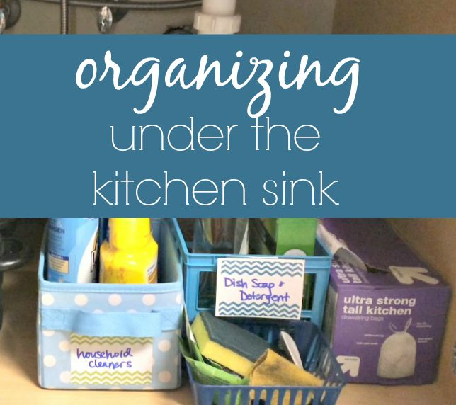 Organizing Under The Kitchen Sink via ComeHomeForComfort.com