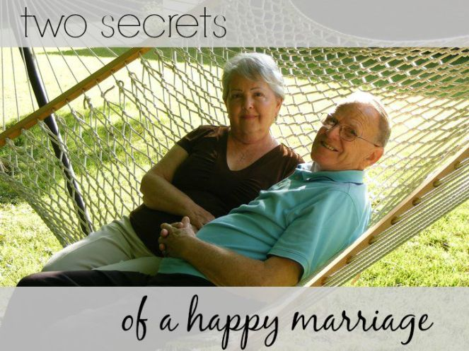 Two Secrets Of A Happy Marriage via ComeHomeForComfort.com