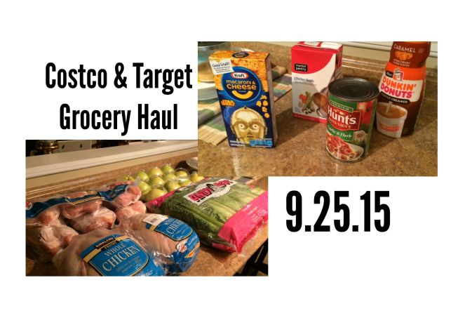 Costco & Target Grocery Haul 9.25.15 via ComeHomeForComfort.com