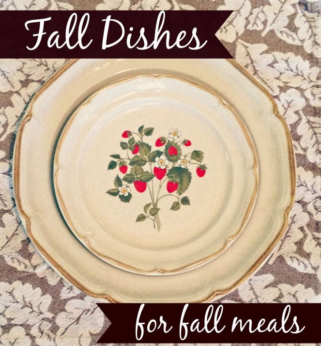 Fall dishes for fall meals via ComeHomeForComfort.com