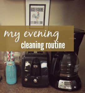 My evening cleaning routine via ComeHomeForComfort.com
