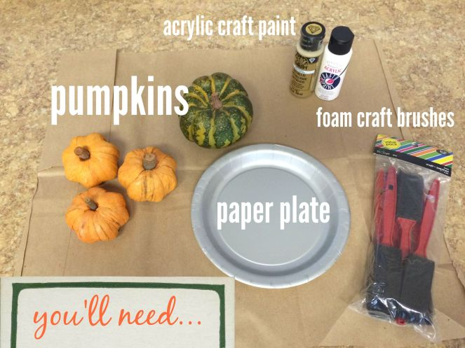 Supplies needed to give your pumpkins the fairy godmother treatment via ComeHomeForComfort.com