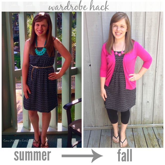Take your wardrobe from summer to fall with just one tip via ComeHomeForComfort.com