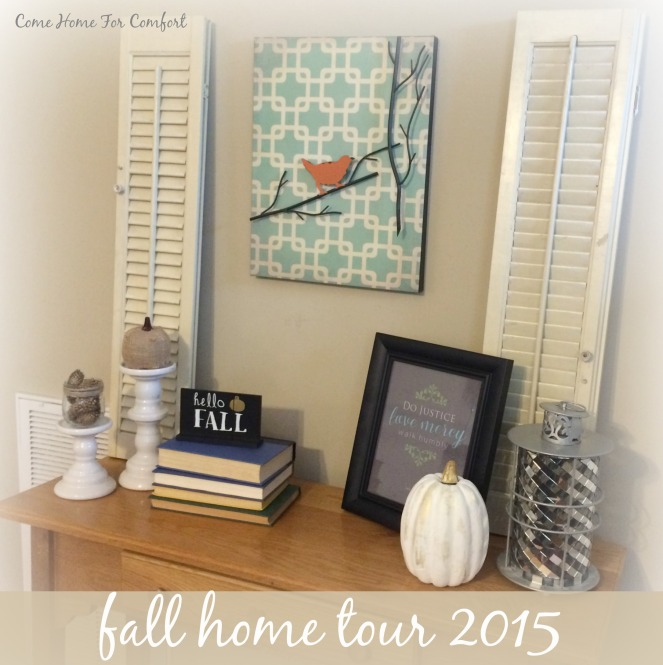 Fall Home Tour 2015 via ComeHomeForComfort.com