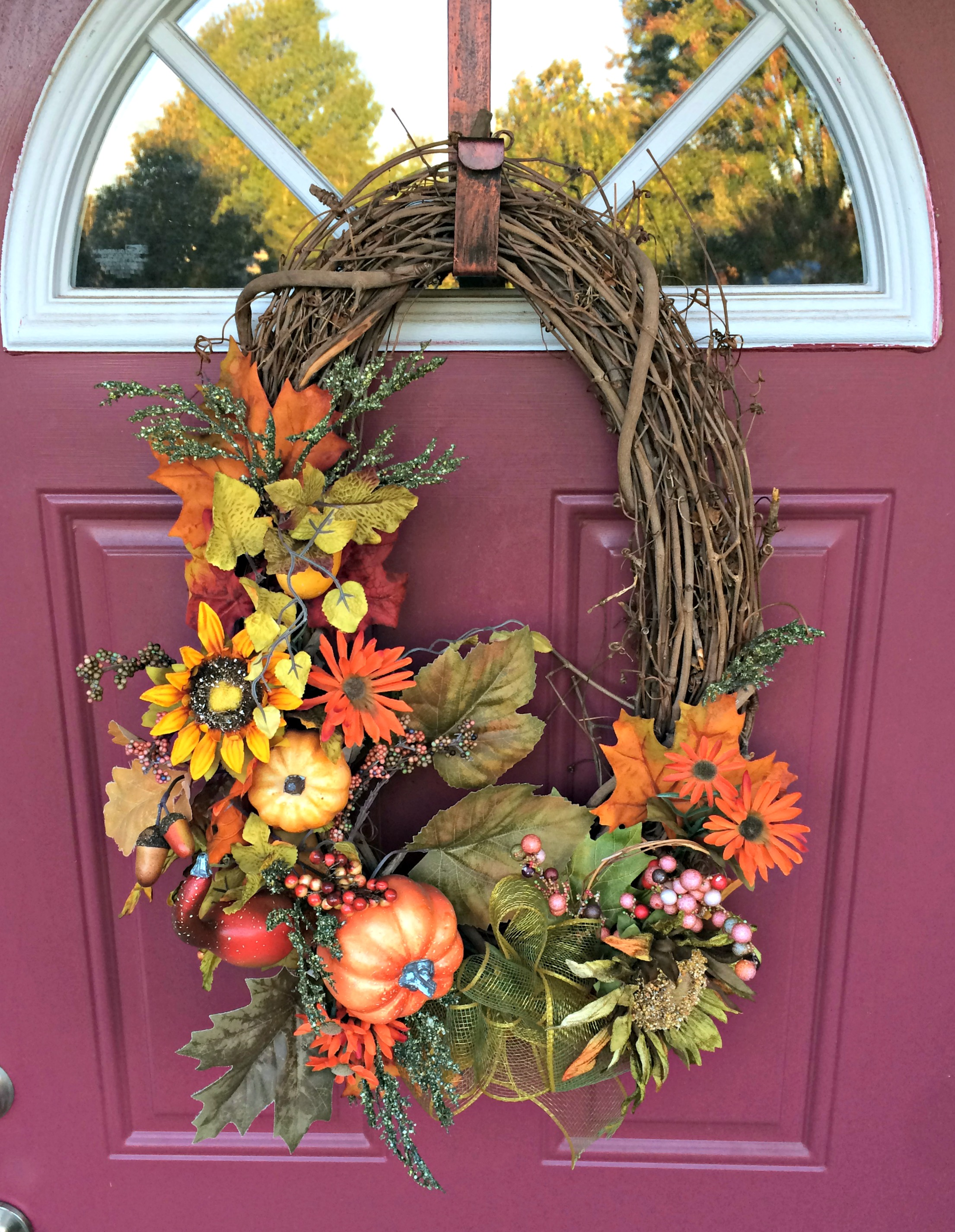 Fall on the outside vlogtober come home for comfort for Fall decorations for outside the home