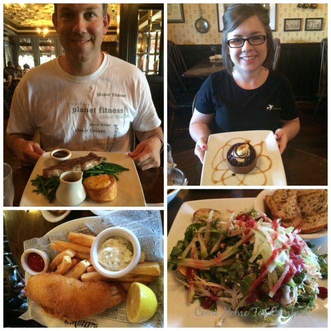 We ate SO much food. Our favorite meal was at Epcot - the Rose and Crown in England.