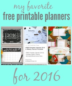 Free printable planners for 2016 via comehomeforcomfort.com