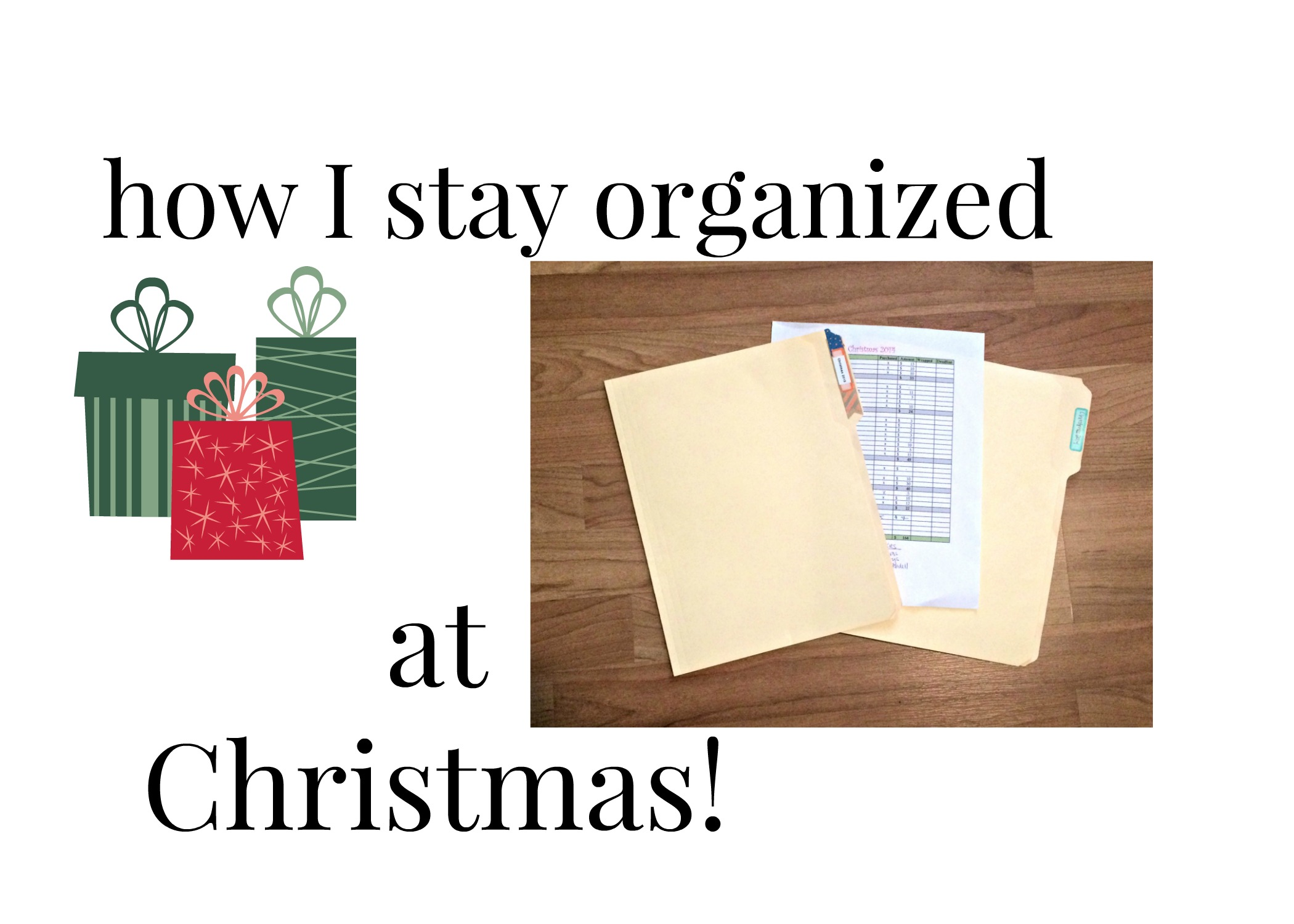 Staying Organized at Christmas