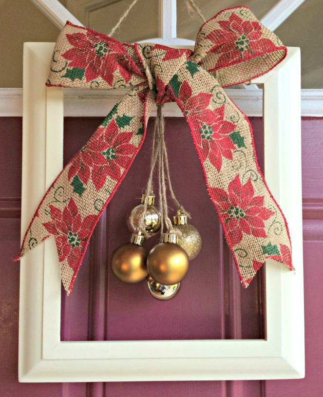 Thrift Store Christmas Wreath Project
