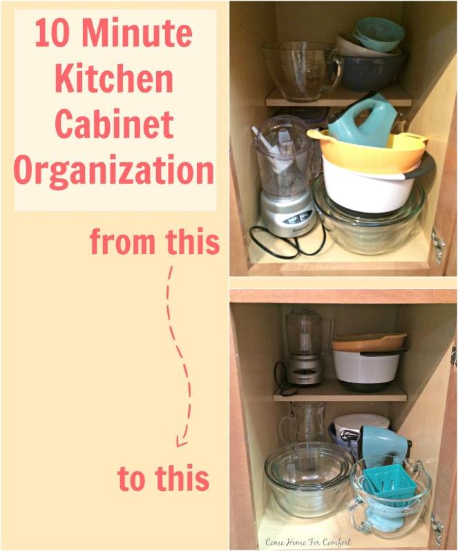 10 Minute Kitchen Cabinet Organization