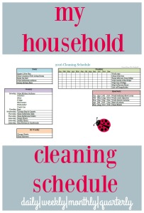 Cleaning schedule to keep you on track and help you get things done! via ComeHomeForComfort.com