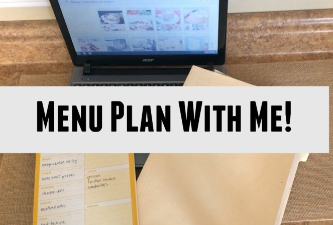 Menu Plan with Me
