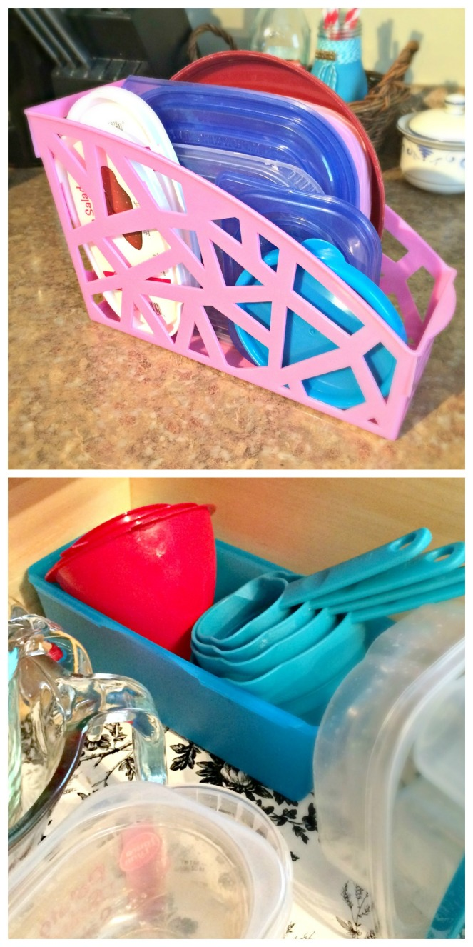 Food storage organization containers