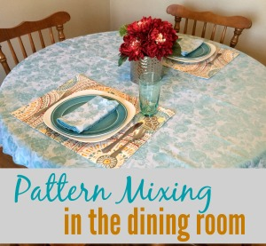 Pattern Mixing in the Dining Room