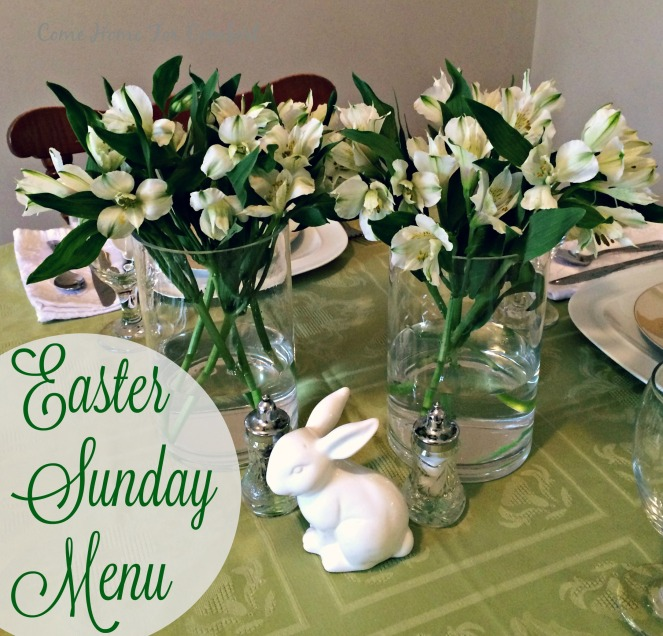 Easter Sunday Menu