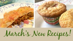New Recipes For March