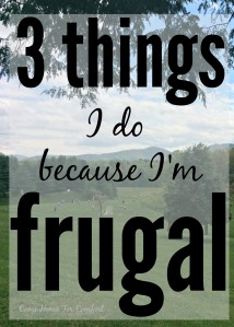 3 things I do because I'm frugal via ComeHomeForComfort.com