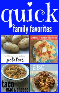 Family favorite recipes that are super quick to make! via ComeHomeForComfort.com