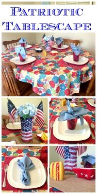 Ideas for a Patriotic Tablescape via ComeHomeForComfort.com