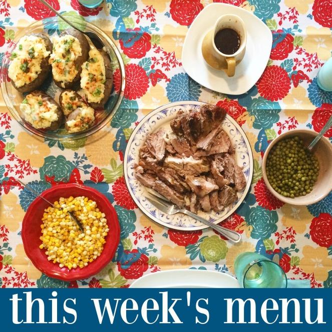 menu plan monday via comehomeforcomfort.com