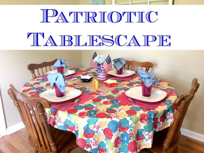 Patriotic Tablescape for any summer holiday via ComeHomeForComfort.com