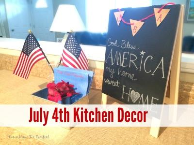 July 4th Kitchen Decor