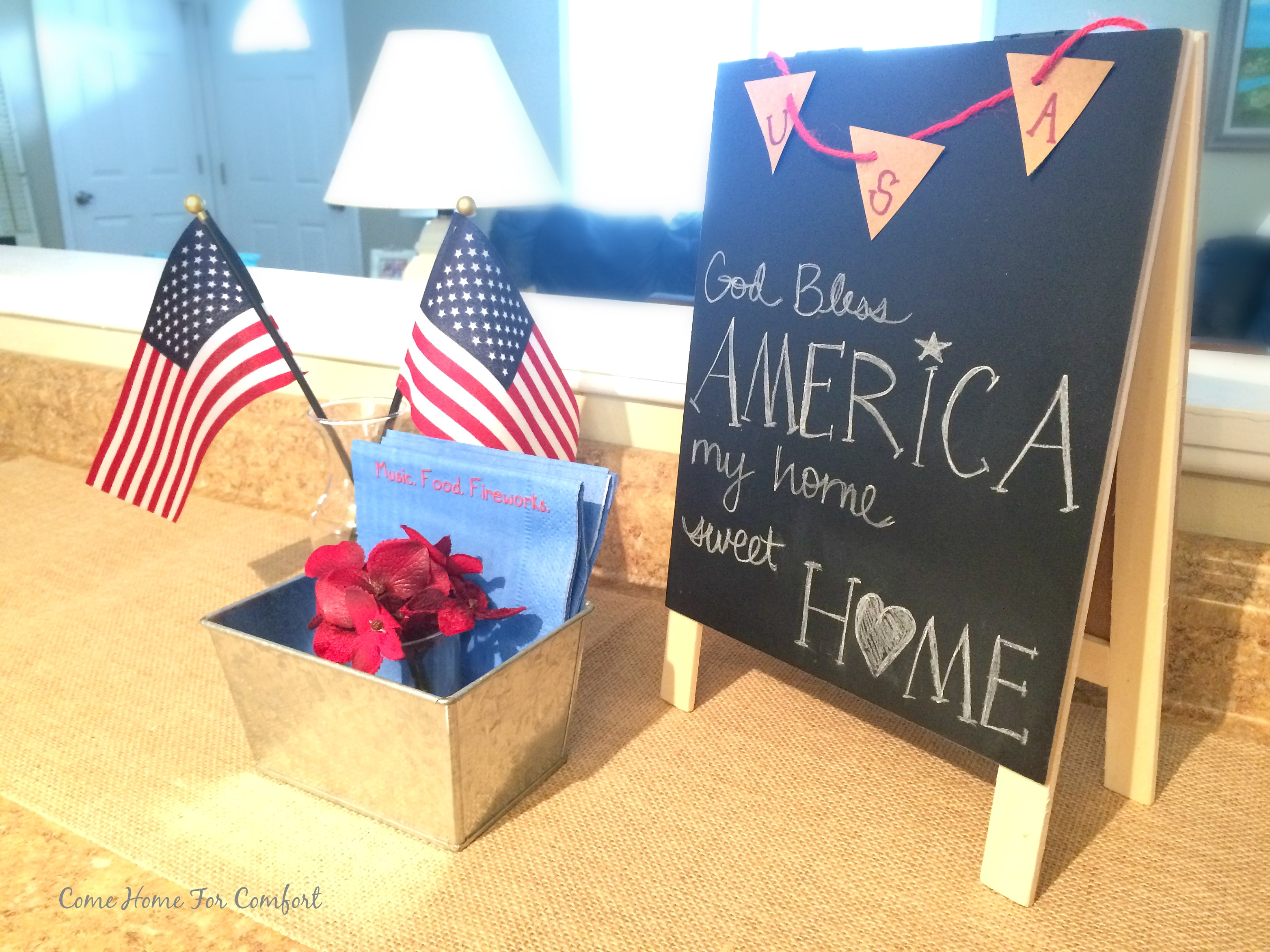My Home Sweet Home Patriotic Decor Come Home For Comfort