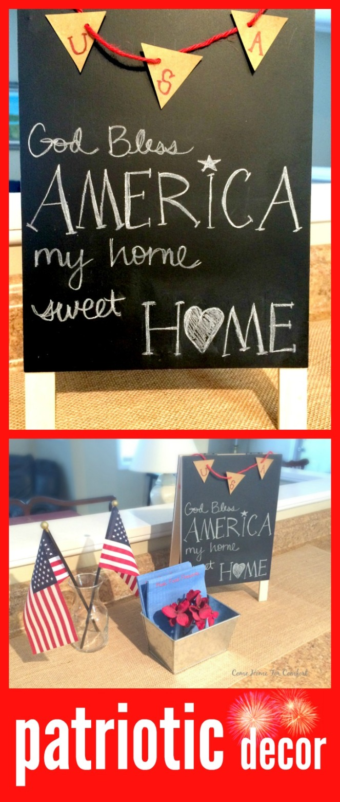 MyIdeas For Home Sweet Home Patriotic Decor via ComeHomeForComfort.com
