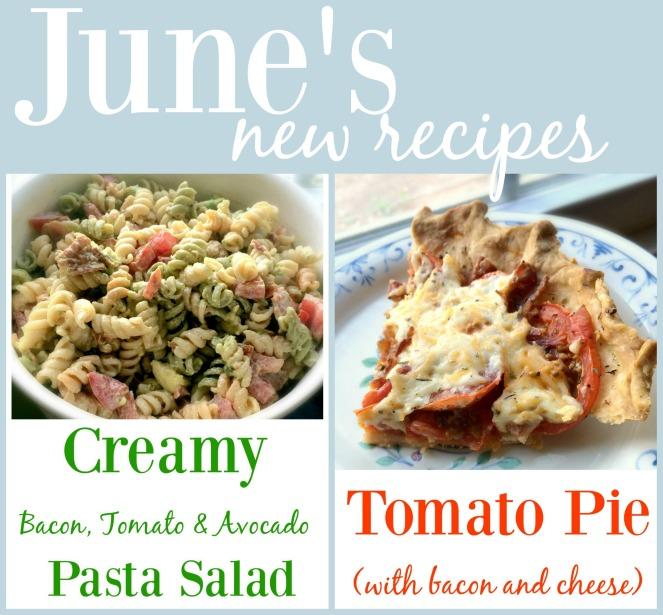 New recipes for June via comehomeforcomfort.com