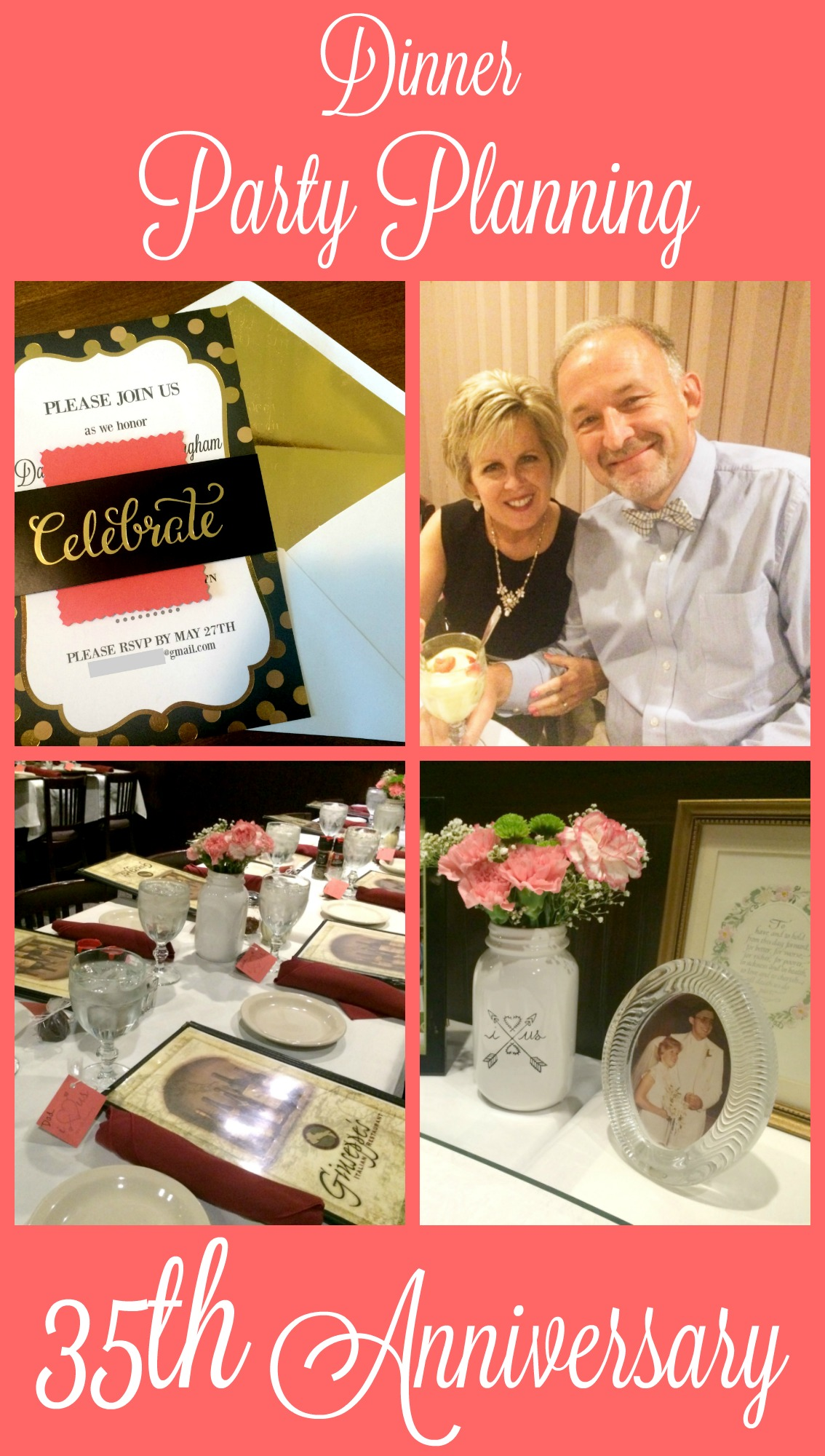 Planning A Capsule Wardrobe: Dinner Party Planning: My Parents' 35th Anniversary
