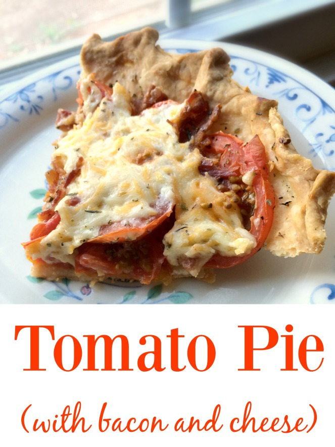 Tomato Pie With Bacon and Cheese