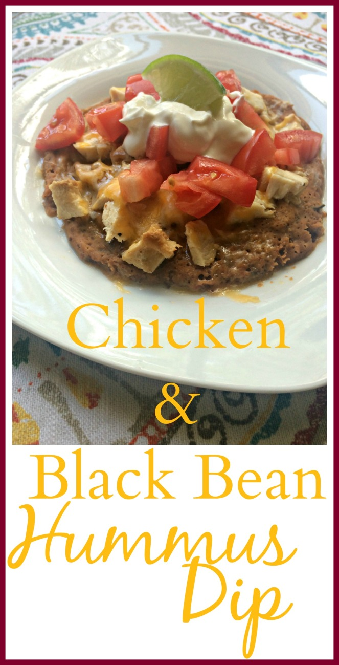 Chicken and Black Bean Hummus Dip via ComeHomeForComfort.com