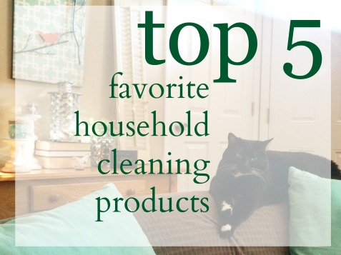 My top five favorite household cleaning products via ComeHomeForComfort.com