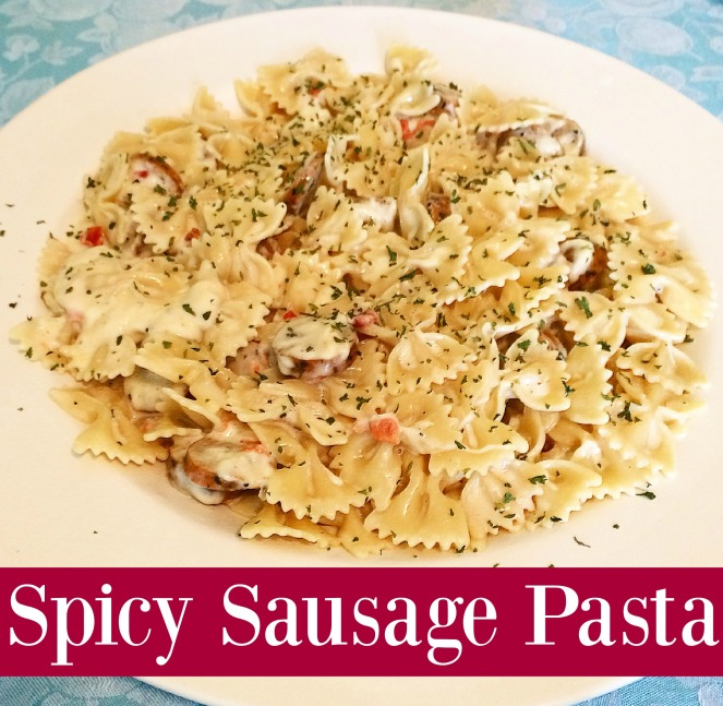 Spicy Sausage Pasta via ComeHomeForComfort.com