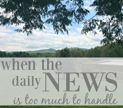 When the daily news is too much to handle, look carefully at the facts. Look away when you're overwhelmed. Look up to Jesus. via ComeHomeForComfort.com