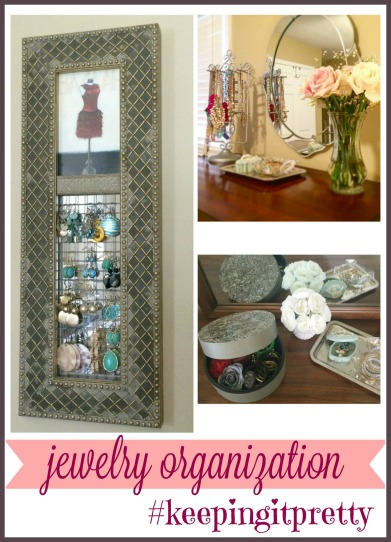 Here's how to organize your jewelry in a way that is functional and still beautiful via ComeHomeForComfort.com