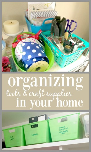 How to organize tools and craft supplies inside your home via ComeHomeForComfort.com