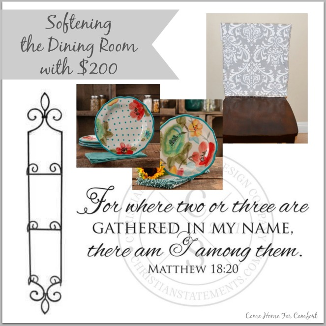 Softening the Dining Room With $200 via ComeHomeForComfort.com