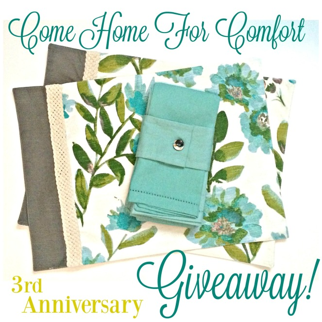 Come Home For Comfort 3rd Anniversary Giveaway!
