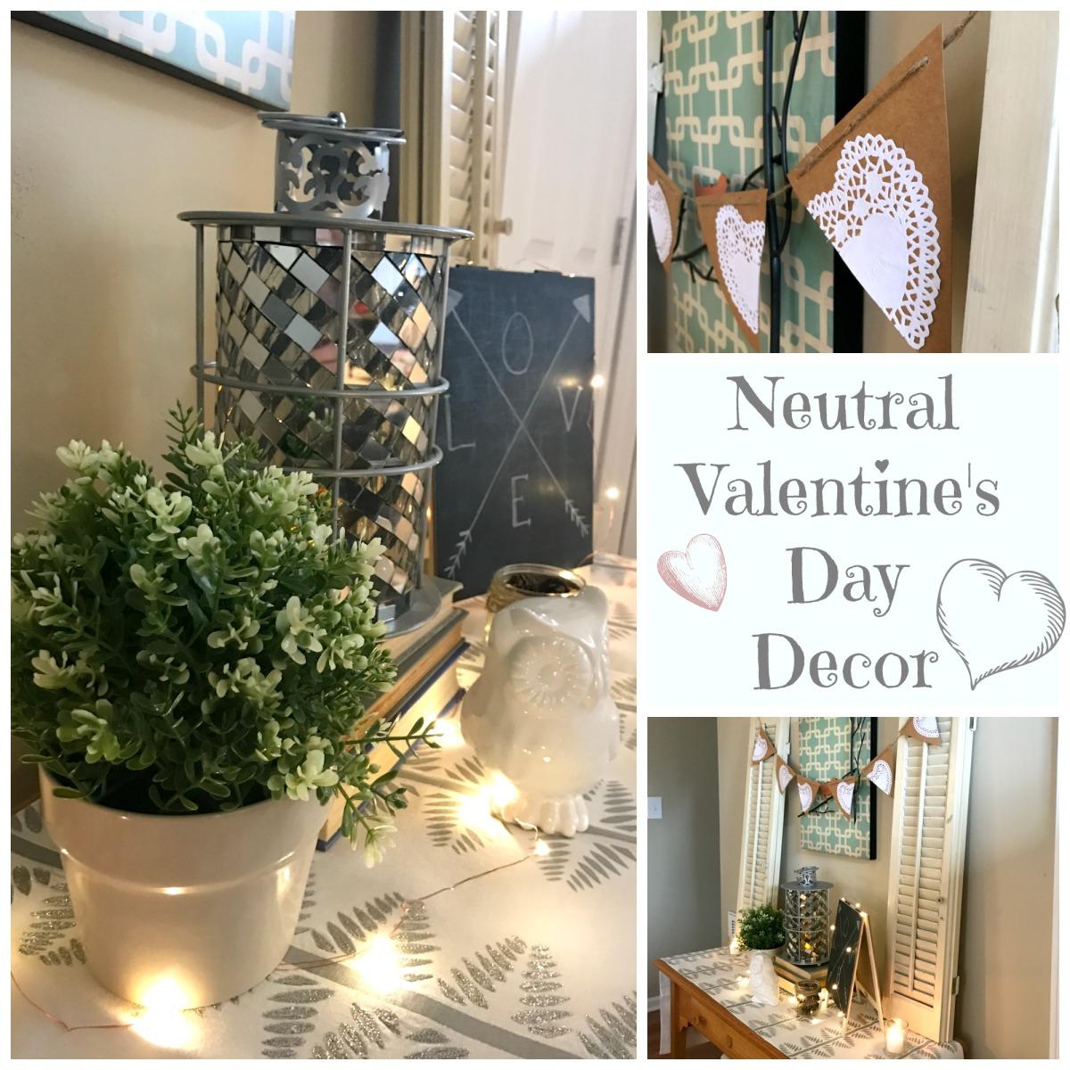 Valentine's Day Decor {Cozy And Neutral}